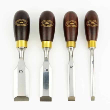 Crown Tools 174RB 4 Pieces Butt Chisel Set