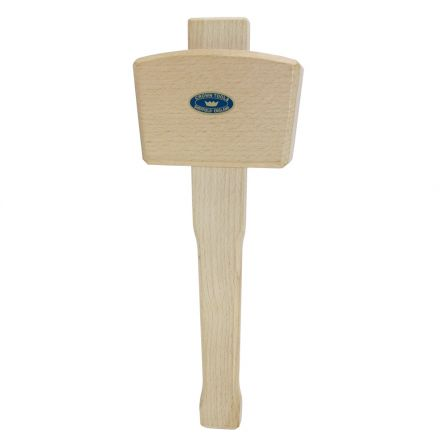 Crown Tools 106 20 oz 4-1/2 Inch Woodcarvers Mallet - Beechwood