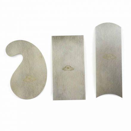 Crown Tools 376 2-1/2 Inch x 5 Inch Cabinet Scraper (Gooseneck, Rectangular & Curved) - Set of 3